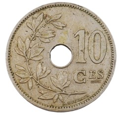 10 centimes - Leopold II - 1901 FR