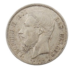 50 centimes - Leopold II - 1866