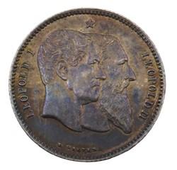 1 franc - Leopold II - 1880