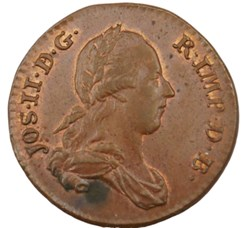 Double liard - Joseph II - 1788 - Bruxel...