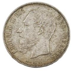 5 francs - Leopold II - 1872