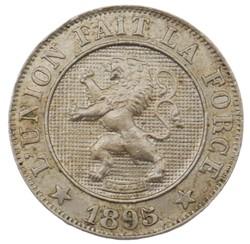 10 centimes - Leopold II - 1895 FR