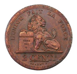 2 centimes - Leopold I - 1833