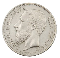 1 franc - Leopold II - 1887 FL