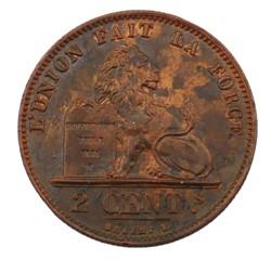 2 centimes - Leopold II - 1876
