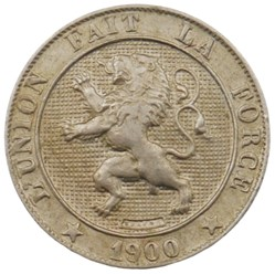 5 centimes - Leopold II - 1900 FR