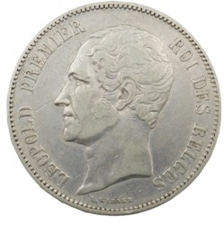 5 francs - Leopold I - 1851