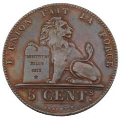 5 centimes - Leopold I - 1857
