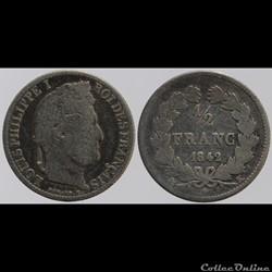 Louis Philippe I - 1/2 franc - 1842 K