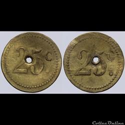 Jeton de 25 centimes
