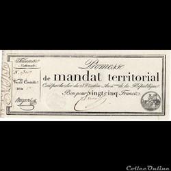Mandat territorial de 25 francs - 28 ven...