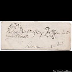 1851 - Cachet type 13, taxe 25