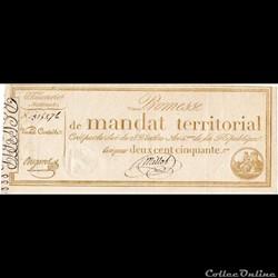 Mandat territorial de 250 francs - 28 ve...