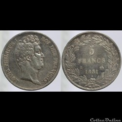 Louis Philippe I - 5 francs - 1831 B