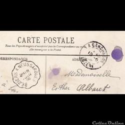 1908 - Cachets types A3 et cachet convoy...