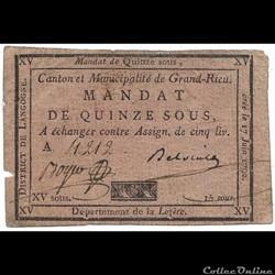 Billet de Confiance - GRANDRIEU (Lozère)...