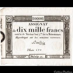 Assignat de 10000 francs - 18 nivôse AN ...