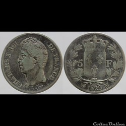 Charles X - 5 francs - 1829 Toulouse