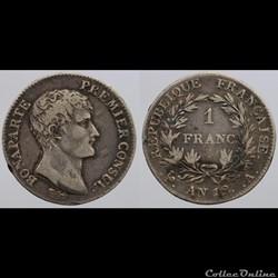 Consulat - 1 franc - AN 12 Paris