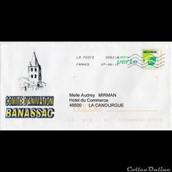 2013 - Enveloppe pré-timbrée, Banassac