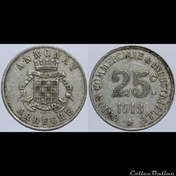 07 - Annonay - 25 centimes