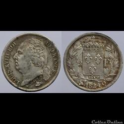 Louis XVIII - 1/2 franc - 1824 Perpignan