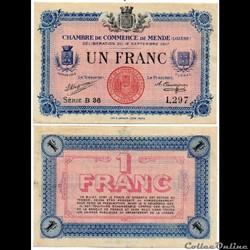 1 franc C.C.M. - Série B36