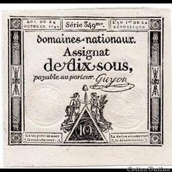 Assignat de 10 sous - 24 octobre 1792