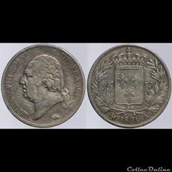 Louis XVIII - 5 francs - 1821 Paris