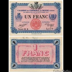 1 franc C.C.M. - Série B5