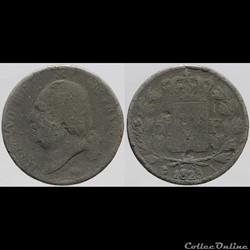 Louis XVIII - 5 francs - 1823 Paris, fau...