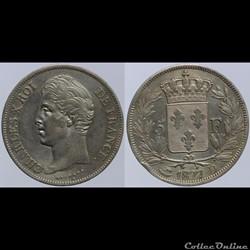 Charles X - 5 francs - 1827 Lyon