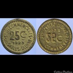 85 - Sables-d'Olonne - 25 centimes