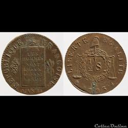 Convention - 1/2 sol aux balances - 1793...