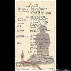 Menu du 2 avril 1949, Hotel des Colonnes