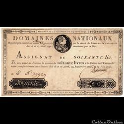 Assignat de 60 livres - 19 juin 1791