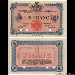 1 franc C.C.M. - Série D annulé