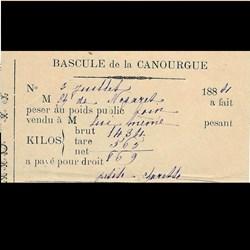 Ticket de bascule 1884