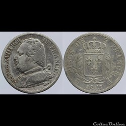 Louis XVIII - 5 francs - 1815 Toulouse
