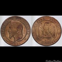 Second Empire - 10 centimes - 1864 K