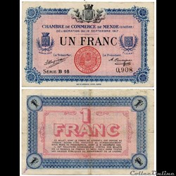 1 franc C.C.M. - Série B16