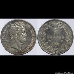 Louis Philippe I - 5 francs - 1831 MA