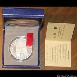 1990 - 15 écus/100 franc argent B.E.