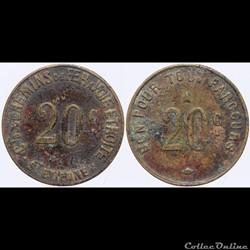 42 - St-Etienne - C.C.F. - 20 centimes