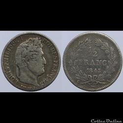 Louis Philippe I - 1/2 franc - 1843 A