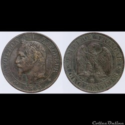 Second Empire - 5 centimes - 1864 BB