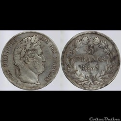 Louis Philippe I - 5 francs - 1837 Stras...