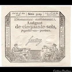 Assignat de 50 sols - 23 mai 1793