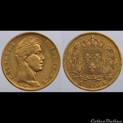 Charles X - 40 francs - 1830 Paris