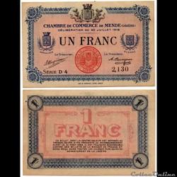 1 franc C.C.M. - Série D4